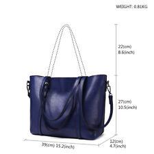 PU Leather Ladies Designer Handbag Shoulder Retro Satchel Tote Shop Large Bag