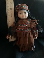 Beautiful 8 inch Petite Porcelain Indian Doll Authentic Clothing