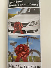 Unique Red Car Gift Bow