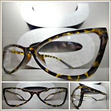 b5004281a9 Women CONTEMPORARY MODERN CAT EYE Style EYE GLASSES Unique Classy Tortoise  Frame