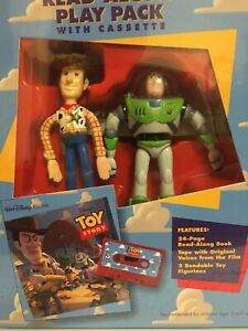 Vintage! Collectible! Toy Story Read-Along Play Pack w/Cassette & Action Figures