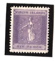 VIERGES -N°18  -year 1888 -6.p. purple  - NEW   CV : 50 €