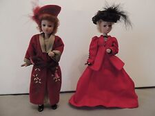 2 Porcelain Dolls with Movable Limbs (arms, legs and head)