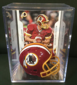 Washington Redskins Kirk Cousins Mini Revolution Helmet Shadowbox w/ card