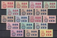 BY7122/ GERMANY – DDR – OFFICIAL – MI # C16 / C30 COMPLETE MINT MNH