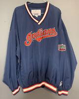 Vintage 90s Cleveland Indians Starter Windbreaker Jacket Mens XXL -Jacobs Field
