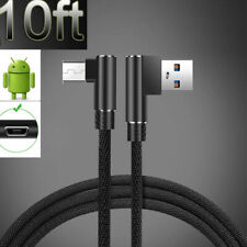 3M 10ft 90° Elbow Charging Micro Cable Cord Sync For Android Charger Metal Head