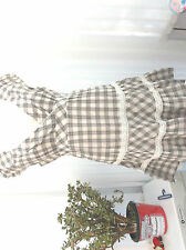 """bay"" ladies cotton summery dress sz 12 blue/grey check design"