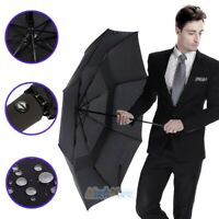 8 Ribs Automatic Folding Compact Umbrella Windproof Men Women Travel Umbrella US