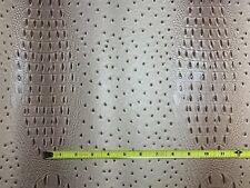 Vinyl Crocodile Crock Beige Brown Mauve Faux Leather Fabric Sold BTY