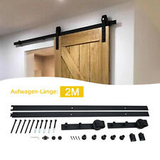 200cm Schiebetürsystem Laufschiene für Schiebetüren Holzschiebetür Beschlag set