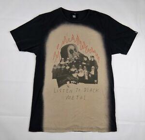 Listen To Black Metal T Shirt size S Cotton Insight Nuns