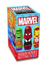 Marvel Blind Boxed Hidden Heroes Nesting Dolls, 1 Set of 4 Dolls