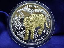 LIBERIA - 10 Dollars 2004 ** TIGER ** Russland Gold Silber Brillanten - Russia