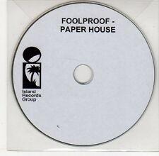 (EG392) Foolproof, Paper House - DJ CD