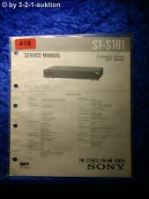 Sony Service Manual ST S101 Tuner  (#0419)