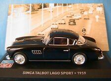 SIMCA TALBOT LAGO SPORT 1959 NOIR IXO 1/43 ALTAYA BLACK NOIRE MINIATURE CAR