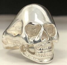 Solid Sterling Silver Mens Skull Ring Large Biker Gothic 925 New Big Free Sizing