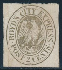 BOYD'S LOCAL STAMP #20L19 22 GOLD UNUSED CV $250 BR4677