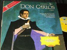 DON CARLOS Verdi DGG Red Stereo SLPM 136 274 LP RARE BIG TULIP