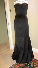 Karen Millen Fishtail Maxi Dress Black Gothic Steampunk Victorian UK10 EU38 Tall