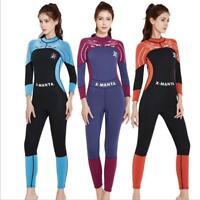 Women 3mm Neoprene Snorkeling Wetsuit Winter Love-sleeve Surfing Scuba Dive Suit