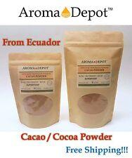 Raw Cacao / Cocoa Powder 100% Bulk Chocolate 8 oz to 1.5 lb Arriba Nacional Bean