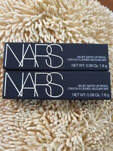 2x NARS Velvet Matte Lip Pencil 9260 Dragon Girl 0.06oz   1.8g Travel Mini NIB
