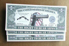 Second Amendment The Right to Bear Arms Million Dollars Novelty Bill Free Ship