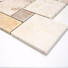 Travertin Quadrat mix  Mosaik für Wand - Bodengestaltung zum 1qm Preis