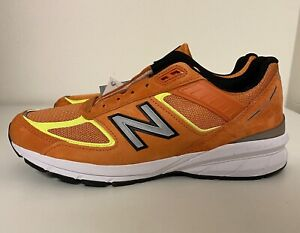 New Balance 990v5 Made In USA Orange Mens Sz 10.5 D M990OH5 Running Shoes NEW!!!