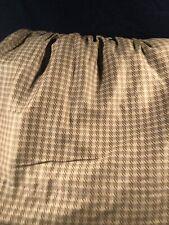 Chaps Ralph Lauren Rosemont Houndstooth Plaid Ruffled King Bed-Skirt