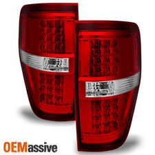 Fit 2009-2014 Ford F150 Pickup Truck LED Turn Signal Red Clear Tail Lights Lamps