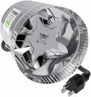 "VIVOSUN 6"" inch 240 CFM Inline Duct Booster Fan Exhaust Air Blower Cooling Vent"