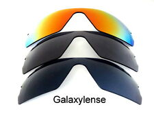 Galaxy Replacement Lenses For Oakley Radar Path Black&Gray&Red Polarized 3Pairs