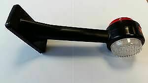 LH Red/White LED Long Oblique Outline Marker Lamp - 12/24V