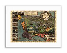 MAPPA di Los Angeles 1871 Poster Vintage tela art prints