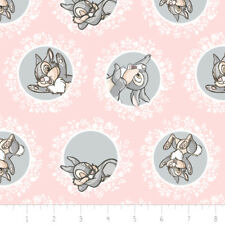 Camelot Fabric Disney Bambi Thumper in Rose Quartz PER METRE Disneys Licensed Fi