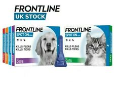 More details for frontline spot on flea, tick & lice treatment for s,m,l,xl dogs & cats (avm-gsl)