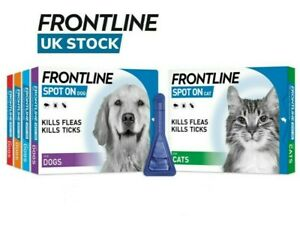 FRONTLINE SPOT ON Flea, Tick & Lice Treatment For S,M,L,XL Dogs & Cats (AVM-GSL)