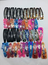 Joblot Of 20Pc Snap Clips Slide Sleepy Kids Girls Woman Grips Hair Accessories