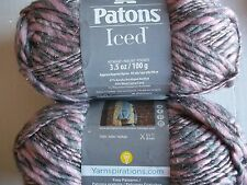 Patons Iced wool blend sparkly twist yarn, Blush, lot of 2 (98 yds each)