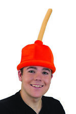 Funny Halloween/ Costume Hat - Unisex Adult Felt Plunger Hat