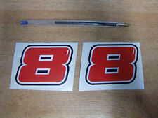 2 OFF Guy Martin CORSA numero 8 Decalcomania / Adesivo - 70 x 50mm / / 2015 BMW TYCO