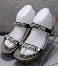 IVANA BLACK LMPFSAJ50A Women's Shoes Size 10 (EUR 40) Leather Sandals  Mephisto