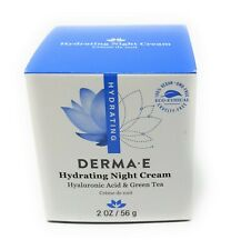 DERMA E - Night Cream Hydrating Hyaluronic Acid & Green Tea Cream 2oz 56g - New