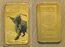 Somalia 2013 Goldplated Color Rectangular 25 shillings-Mystical Creatures-Dragon