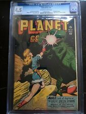 PLANET COMICS #47 CGC VG+ 4.5; OW-W; classic dinosaur cover; beheading story!