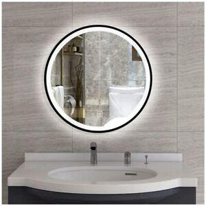 LED Light Bathroom Mirror Round Mirror Wall-mounted Makeup Vanity Mirror
