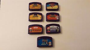 Leapfrog LeapPad Cartridges Batman Scooby Incredibles Snow White Pooh Lot of 7